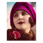 Invierno de moda tarjetas postales