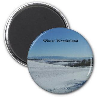 invierno de Montana, imán del país de las maravill