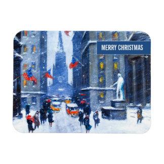 Invierno de New York City. Imán del navidad de la