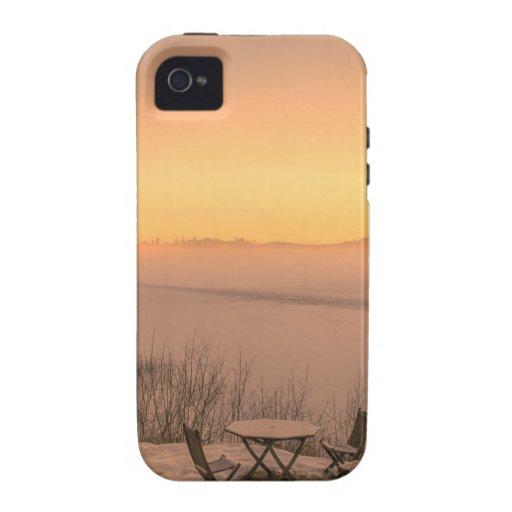 Invierno de Noruega de la puesta del sol iPhone 4 Fundas