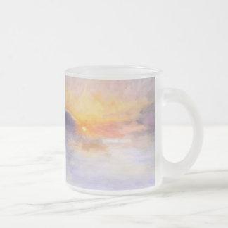Invierno de Noruega Taza De Cristal