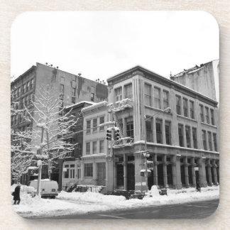 Invierno de Nueva York - ciudad en la nieve Posavasos