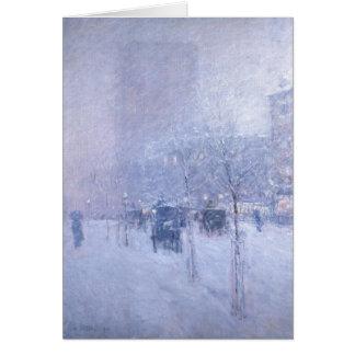 Invierno de Nueva York de la última hora de la Tarjeta De Felicitación
