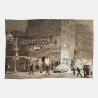 Invierno de Nueva York - nieve en la ciudad Toallas De Mano