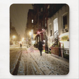Invierno de Nueva York - nieve en la zona este más Mousepads