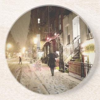 Invierno de Nueva York - nieve en la zona este más Posavaso Para Bebida