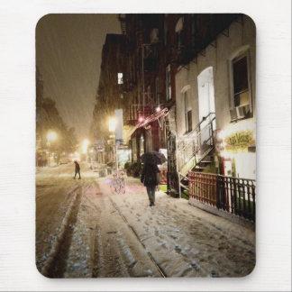 Invierno de Nueva York - nieve en la zona este más Tapete De Ratones