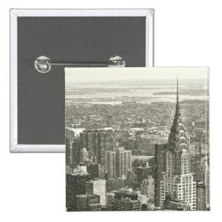 Invierno de Nueva York Pin Cuadrada 5 Cm