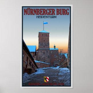 Invierno de Nürnberg - de Heidenturm Posters