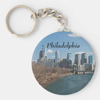 Invierno de Philly Llavero Redondo Tipo Pin