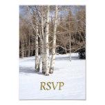 Invierno de RSVP que casa los árboles de Aspen en Invitacion Personal