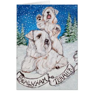 Invierno de Sealyham Terrier Tarjeta De Felicitación