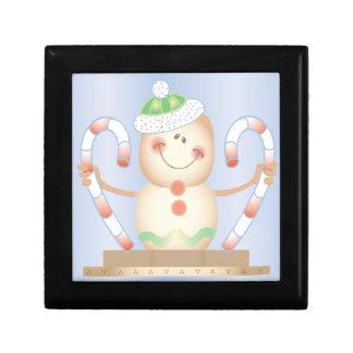 INVIERNO de Smore_Gingerbread_Man_and_Candycane_ F Cajas De Recuerdo