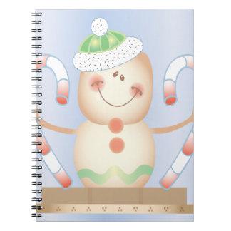 INVIERNO de Smore_Gingerbread_Man_and_Candycane_ F Libreta Espiral