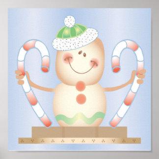 INVIERNO de Smore_Gingerbread_Man_and_Candycane_ F Poster