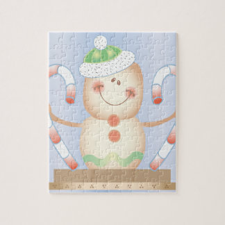 INVIERNO de Smore_Gingerbread_Man_and_Candycane_ F Rompecabeza