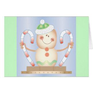 INVIERNO de Smore_Gingerbread_Man_and_Candycane_ F Tarjeta