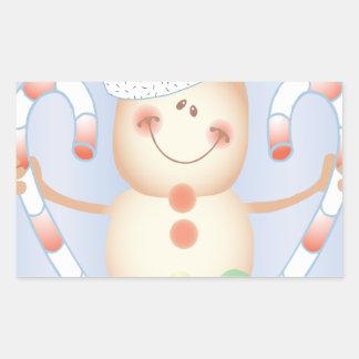 INVIERNO de Smore_Gingerbread_Man_and_Candycane_ Rectangular Altavoz