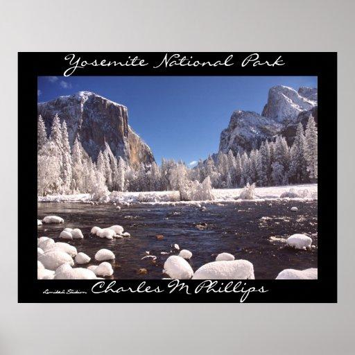 Invierno de Yosemite Poster
