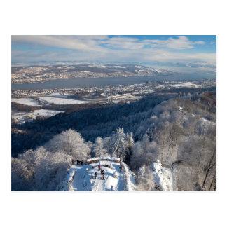 Invierno de Zurich Suiza Tarjetas Postales