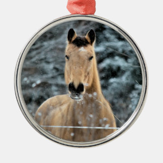 Invierno del caballo del ante ornamento de reyes magos