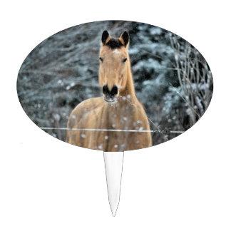 Invierno del caballo del ante palillos de tarta