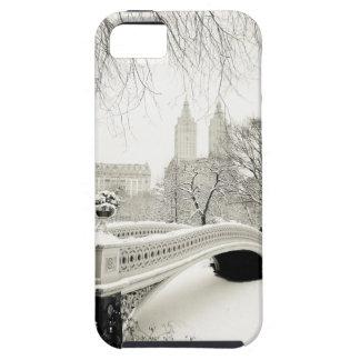 Invierno del Central Park - nieve en el puente del iPhone 5 Carcasas