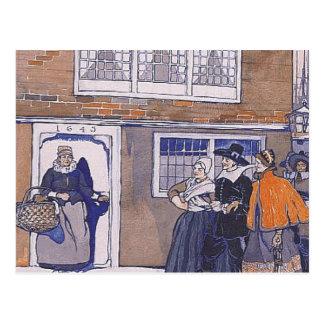 Invierno del Colonial de la CAMISETA Tarjeta Postal