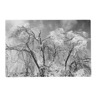 invierno del desgaste de los árboles tapete individual