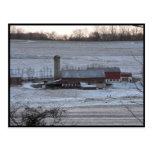 Invierno del ~ en el ~ 12 del condado de Lancaster Tarjetas Postales