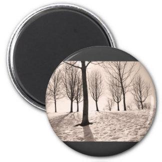 invierno del gasto imán redondo 5 cm