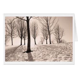 invierno del gasto tarjeta de felicitación
