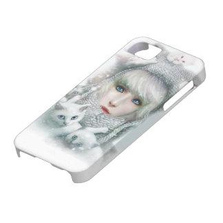 Invierno del gatito iPhone 5 Case-Mate carcasas