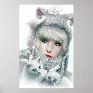 Invierno del gatito posters