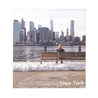 Invierno del horizonte de New York City Bloc De Notas