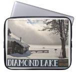 Invierno del lago diamond fundas computadoras