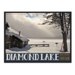 Invierno del lago diamond postales