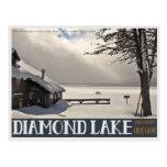 Invierno del lago diamond tarjetas postales