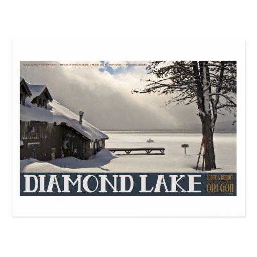 Invierno del puerto deportivo del lago diamond postal