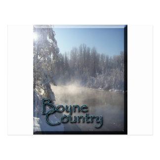 Invierno del río de Boyne Tarjetas Postales