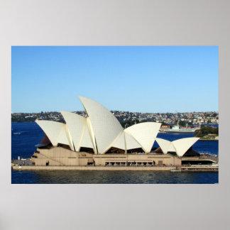 invierno del teatro de la ópera de Sydney Poster