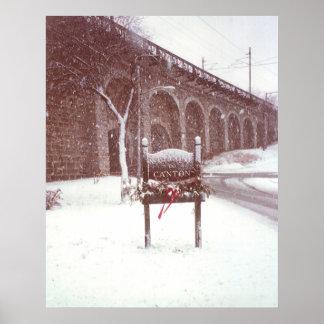 Invierno del viaducto del cantón poster