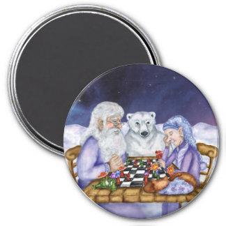 Invierno del viejo hombre e imán del ajedrez del j
