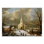 Invierno domingo en épocas antiguas felicitación