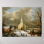 Invierno domingo en épocas antiguas impresiones