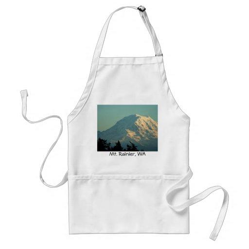 Invierno el Monte Rainier Delantal