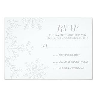 """Invierno elegante de los copos de nieve del invitación 3.5"""" x 5"""""""