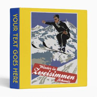 """Invierno en anuncio del viaje del esquí del carpeta 1"""""""
