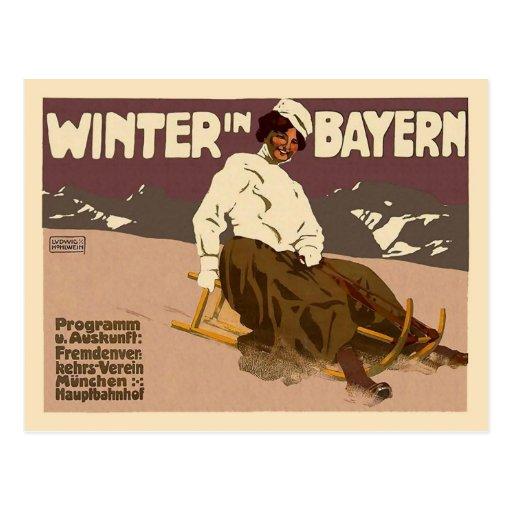 Invierno en Baviera Postal