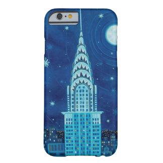 Invierno en caso del iPhone 6 de New York City Funda De iPhone 6 Barely There